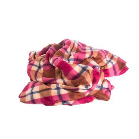 blanket or soft warm blanket on background