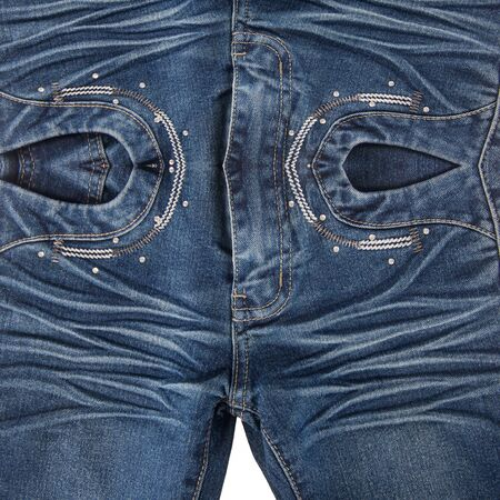 jean or blue jeans with concept on white background new