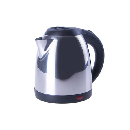 kettle or Stainless Steel Electric Kettle on background new Archivio Fotografico