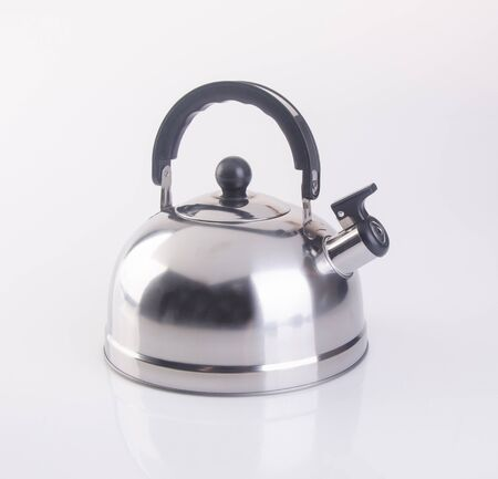 kettle or Stovetop whistling kettle on background new