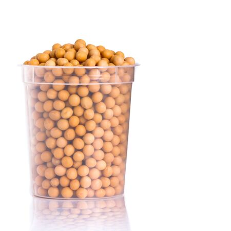 Soybean or dried soybeans on a background new