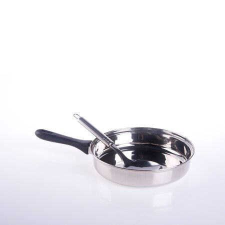 pan or metal frying pan on a background new