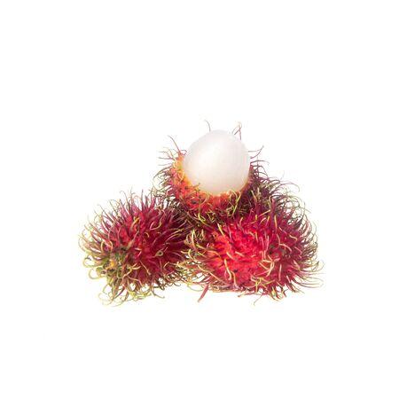 Rambutan or fruit on summer on white background