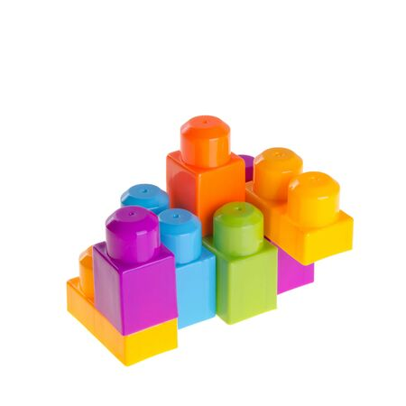 Toy or Plastic building blocks on background new
