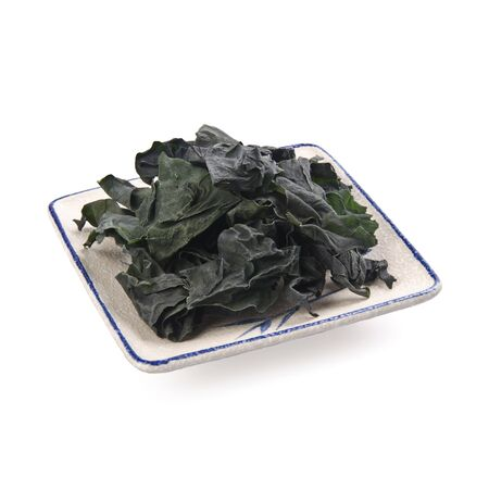 seaweed or edible dry seaweed on the background new