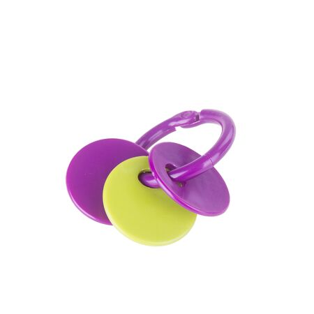 Toy or baby plastic rattle toys on the background new Archivio Fotografico