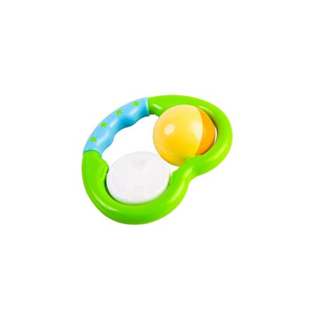 Toy or baby plastic rattle toys on the background new