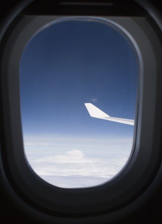 View from Inside an Airplane Stock Photo - 885187
