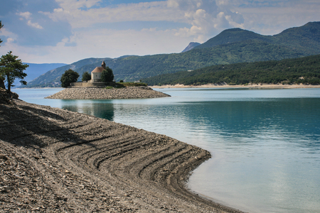 Lake in southern France
