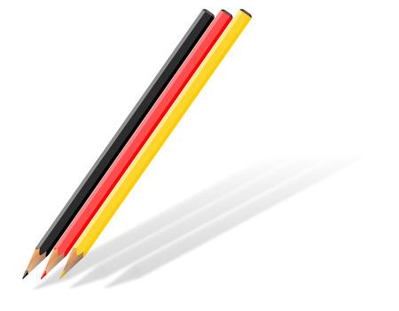 Three pencils as an illustration