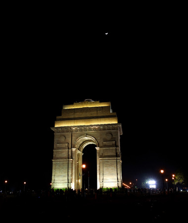 monument in india: The India Gate is a national monument of India  Situated in the heart of New Delhi