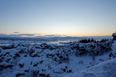 drowning: Drekkingarhylur (the Drowning Pool) at Pingvellir National Park , South West Iceland. Stock Photo