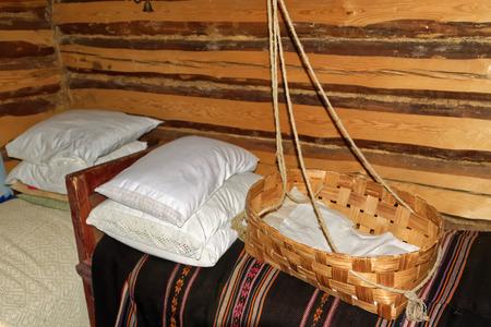 rustical: Interior of a rustical bedroom in Setomaa.