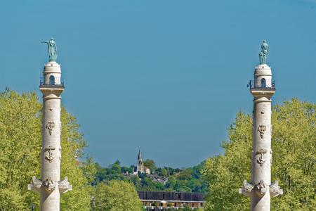 Monument aux Girondins에서보기, 프랑스 혁명 기간 중 온건파 부르주아 국회의원 대리 인 Girondins을 기리고
