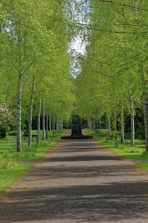 Alley that leads to Nobel Rondell on G?ttingen cementery