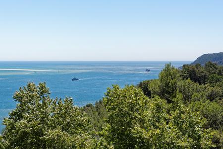 Panorama view from Fort of Sao Filipe, Setubal, Portugal.