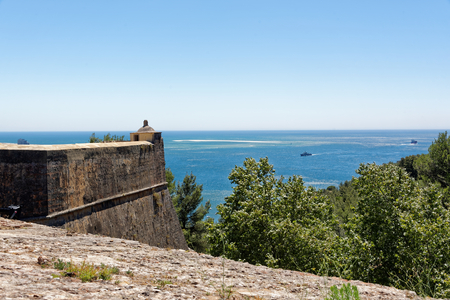 Panorama view from Fort of Sao Filipe, Setubal, Portugal.