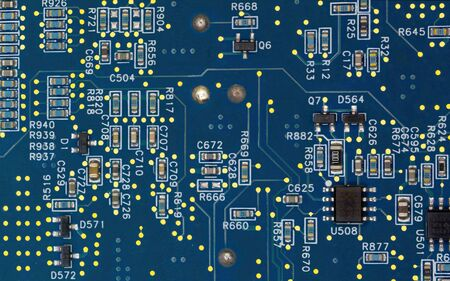 An electronic device, usually fabricated by photolithography, that is very small and implements several components.