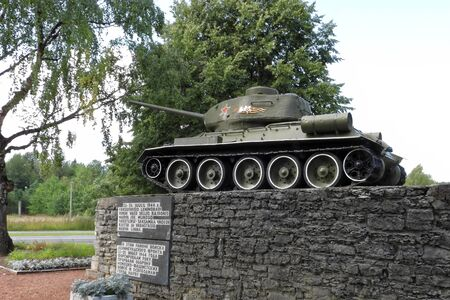 T-34 tank, the monument to commemoriate those periched in the World War II.