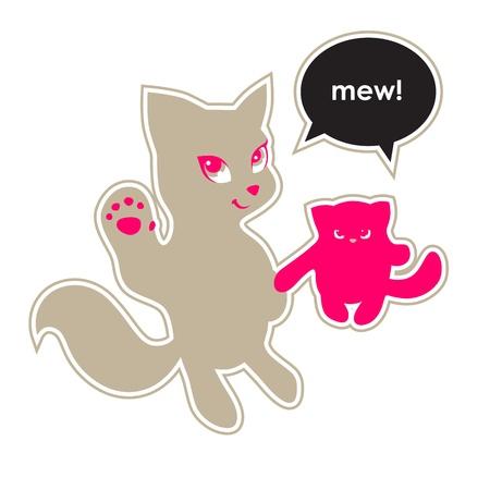 say hello: Cats say Hello