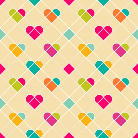 Geometrical hearts seamless pattern  Stock Vector - 17667363