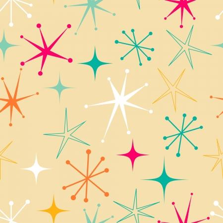 Retro style starry pattern Illustration