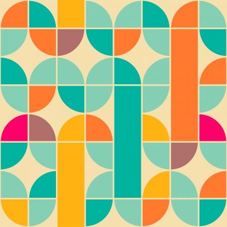 Retro abstracte naadloze patroon Stock Illustratie