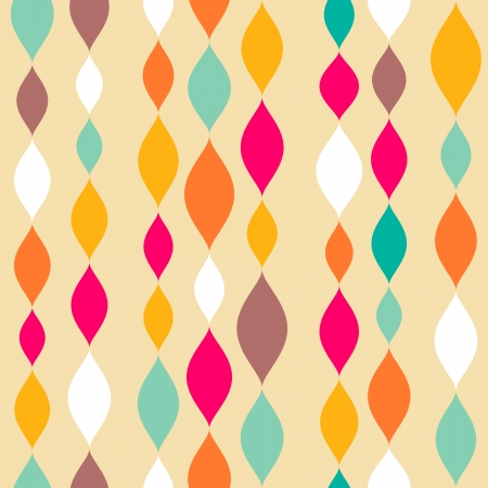 Retro stijl abstracte naadloze patroon