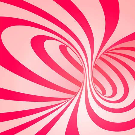 Candy cane sweet spiral abstract background Vector