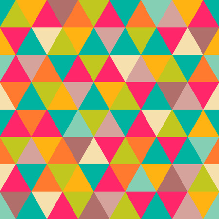 triangle pattern: Abstract geometric triangle seamless pattern  Illustration