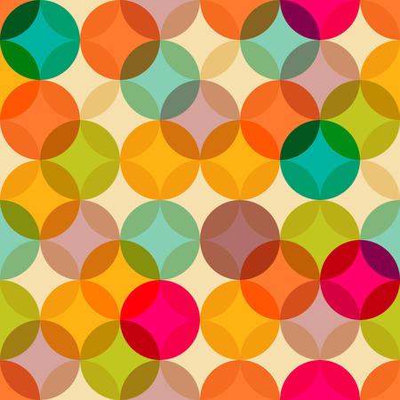 流行: ビンテージの抽象的なシームレス パターン