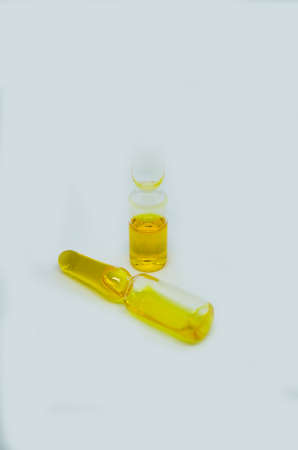 vials: Vials filled with ammonium