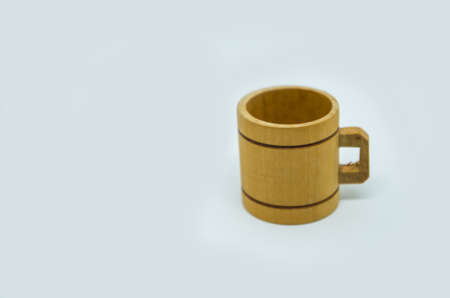 bathe mug: Wooden miniature of a beer mug