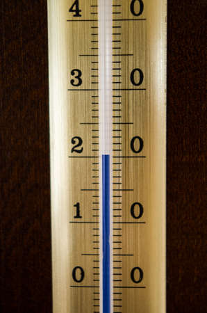 hotter: Thermometer showing 20 degrees air temperature