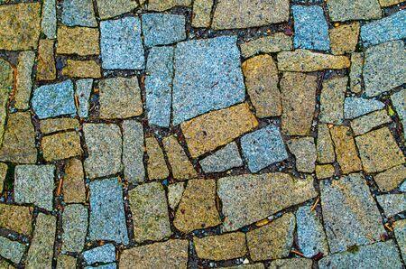 A detailed look on a stone path Stok Fotoğraf