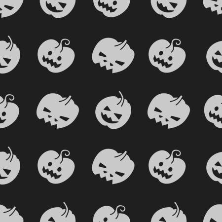Nahtloses Halloween-Muster mit Kürbissen Vektorgrafik