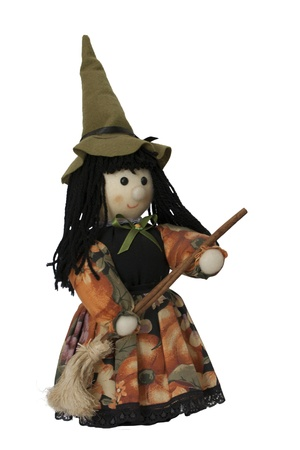 bewitchment: handicraft witch, toy or decoration