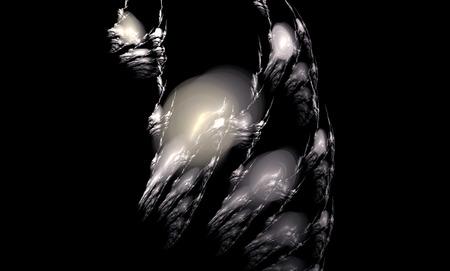 desktop wallpaper: Abstract fractal image of wolf. Desktop wallpaper. Creative digital artwork. Stock Photo