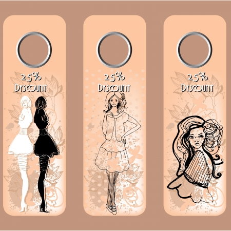 cute illustrated fashion coupons