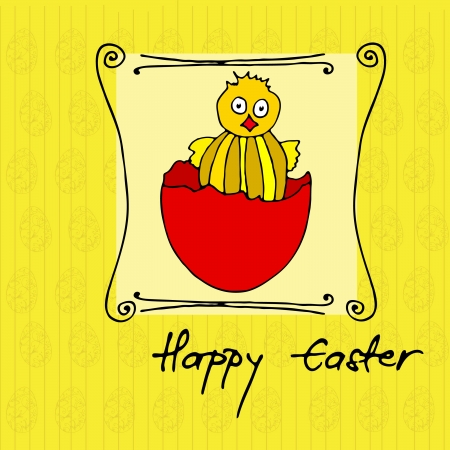 Greeting card design for Easter Vector