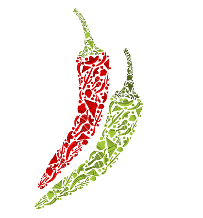 Mexican traditional attributes in chili peppers