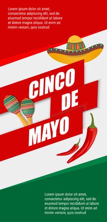 A Vector flyer of Cinco de Mayo celebration