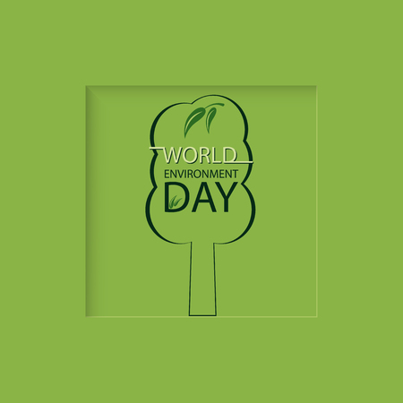 earth day: Tree design for World environment Day greeting card Illustration