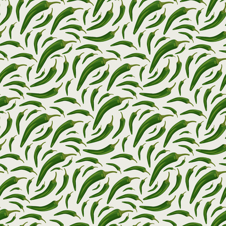 Seamless pattern with chili peppers Illustration