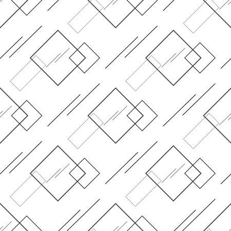 Abstract seamless geometric pattern with squares