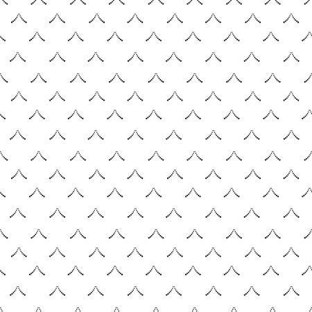 Les flèches constituées de points pointent vers le haut. Motif géométrique sans soudure