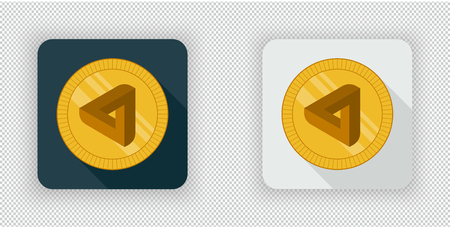 Light and dark crypto currency icon MaidSafeCoin on a transparent background