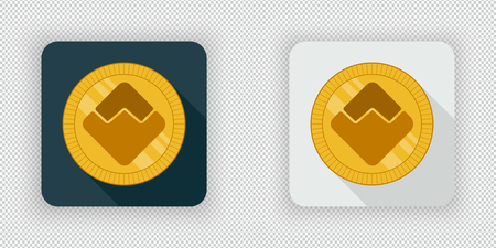 Light and dark crypto currency icon Waves on a transparent background