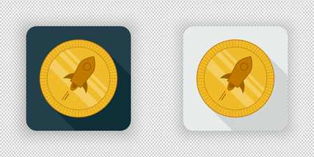 Light and dark crypto currency icon Stellar Lumens on a transparent background