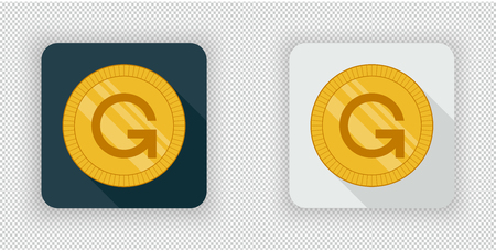 Light and dark GameCredits crypto currency icon Illustration